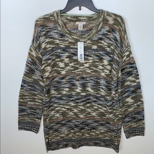Westbound Sweater Green Cream New With Tags